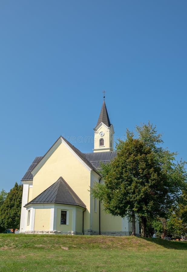 Church of St. Anthony of Padua at Dreznik Grad. Croatia royalty free stock photography