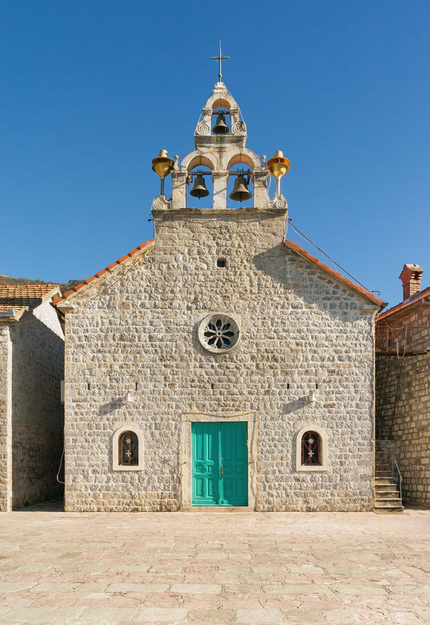 Church of the St Anthony of Padua. Tivat, Montenegro royalty free stock photos