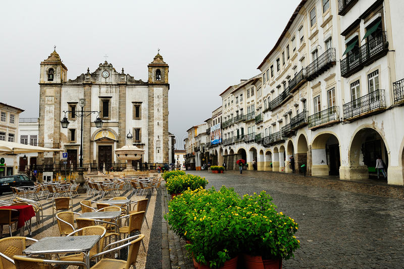 The church of St. Anton, Evora, Portugal royalty free stock photos