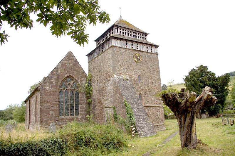Church of St Bridget - Skenfrith South Wales royalty free stock photos
