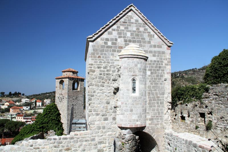Church of St Catherine Old town Bar - Montenegro royalty free stock photos