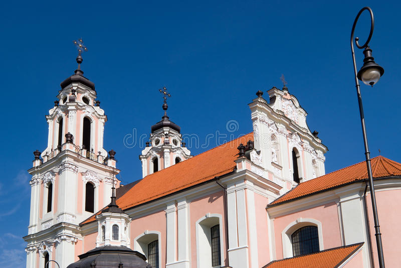Church of St. Catherine in Vilnius, Lithuania royalty free stock image