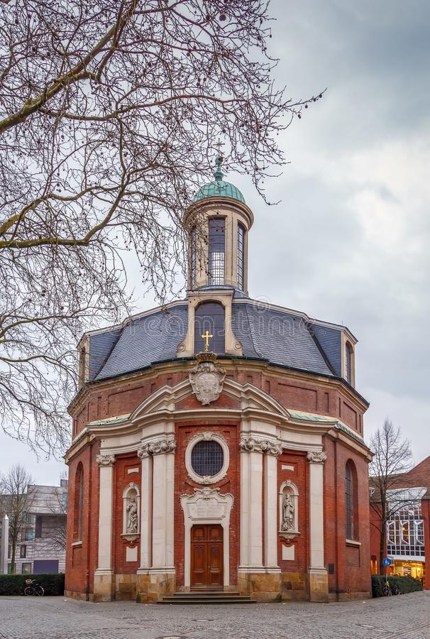 Church of St. Clement, Munster, Germany. Church of St. Clement is a monastery and hospital church built in the years 1745-1753, Munster? Germany royalty free stock image