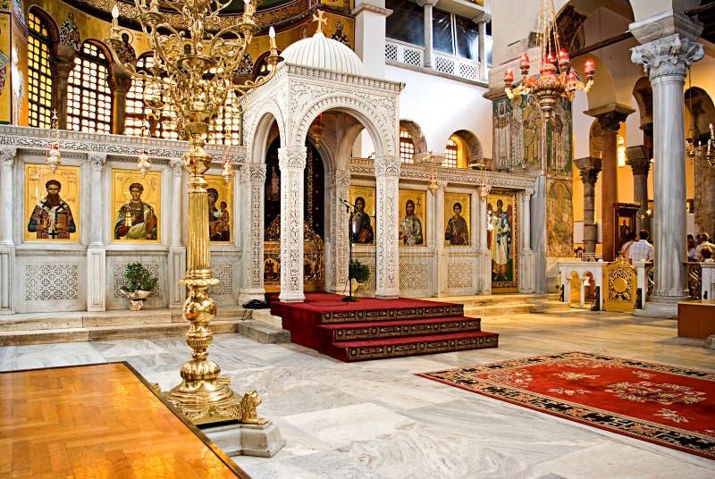 Church of St. Demetrius in Thessaloniki stock photos