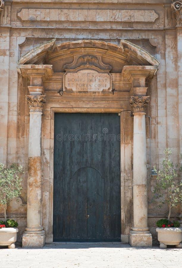 Church of St. Domenico. Putignano. Puglia. Italy. Detail of Church of St. Domenico. Putignano. Puglia. Italy stock photo