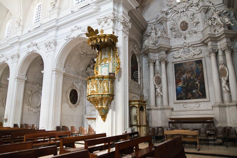 Church of St. Domenico. Putignano. Puglia. Italy. Interior of Church of St. Domenico. Putignano. Puglia. Italy stock photography