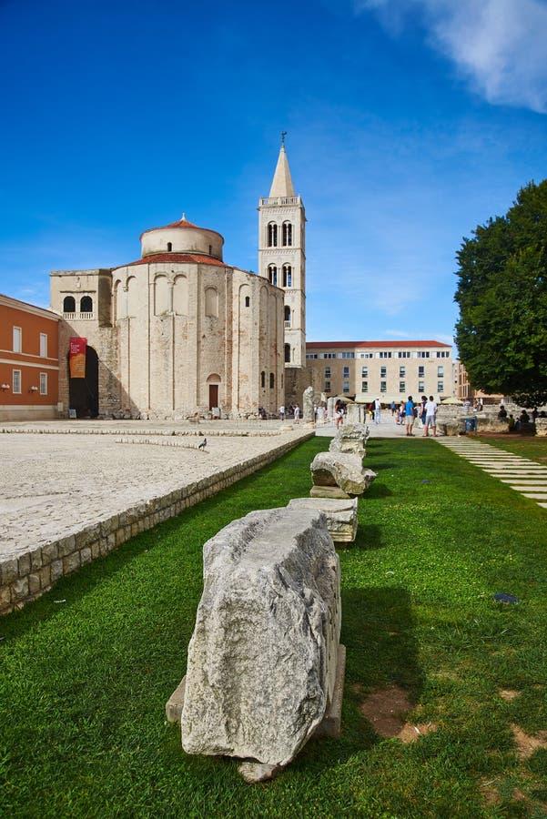 Roman Artefacts and Churches in Zadar, Croatia stock photos