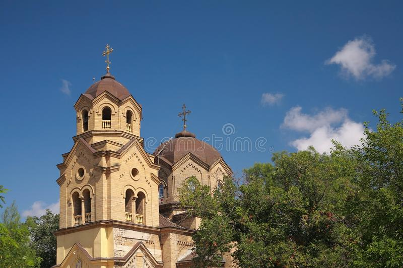 Church of St. Elijah in Yevpatoria. Cathedral of St. Prophet Elijah in Yevpatoria, Crimea stock photo