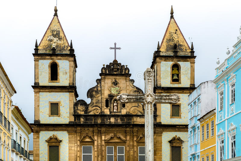 Church of St. Francis of Assis in Salvador, Bahia, Brazil.  royalty free stock photography