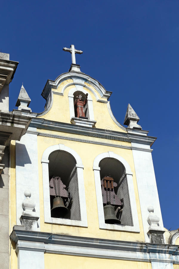 Church of St. Francis of Assisi in the Largo Sao Francisco royalty free stock photos