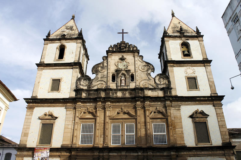 Church of St. Francis of Assisi in Salvador, Bahia. The Church of St. Francis of Assisi is located in the historical centre of Salvador, in the State of Bahia royalty free stock image