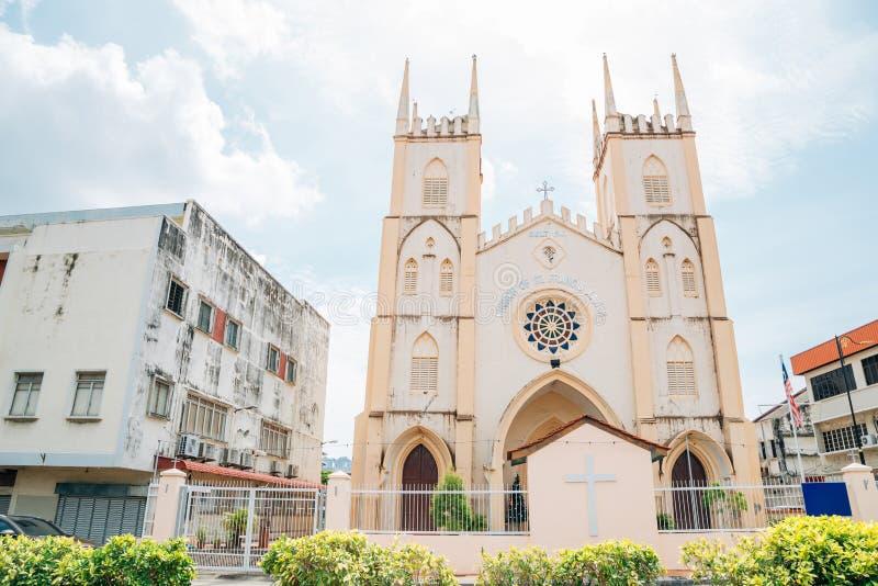 Church of St Francis Xavier in Malacca, Malaysia. Asia royalty free stock photos