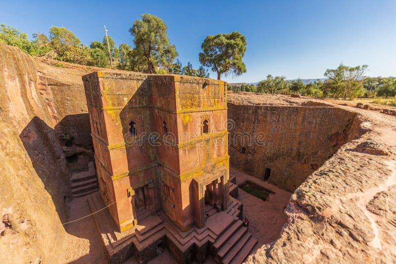 Church of St. George Bete Giyorgis, Lalibela, Ethiopia royalty free stock photography