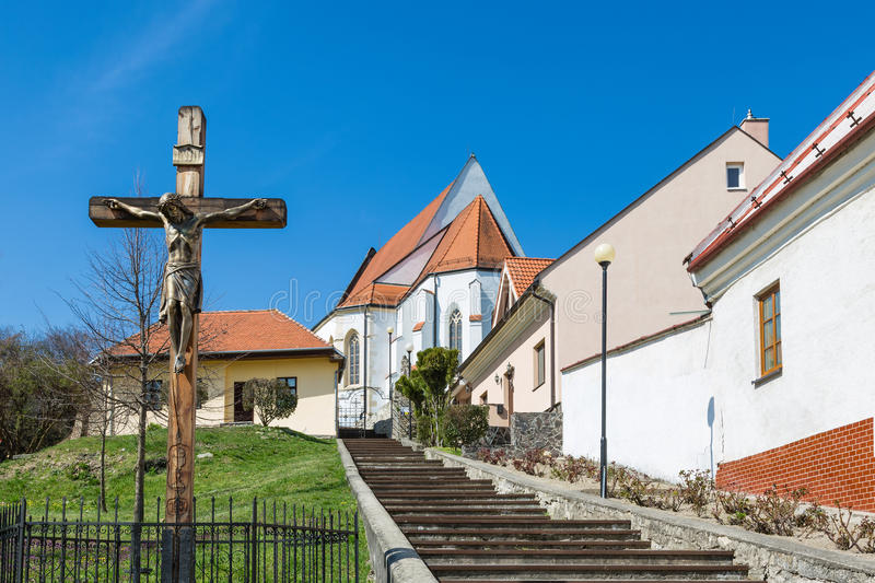 Church of St. George. Parish Church of St. George in the village of Svaty Jur, Slovakia royalty free stock photos