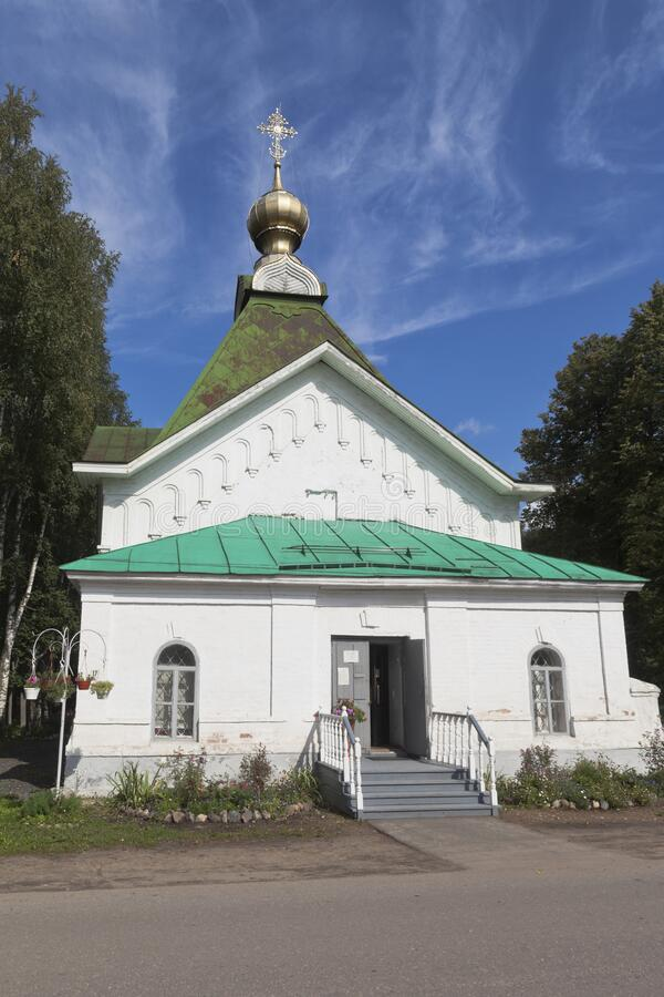 Church of St. Gregory Pelshemskogo Kadnikov in the Vologda region stock images