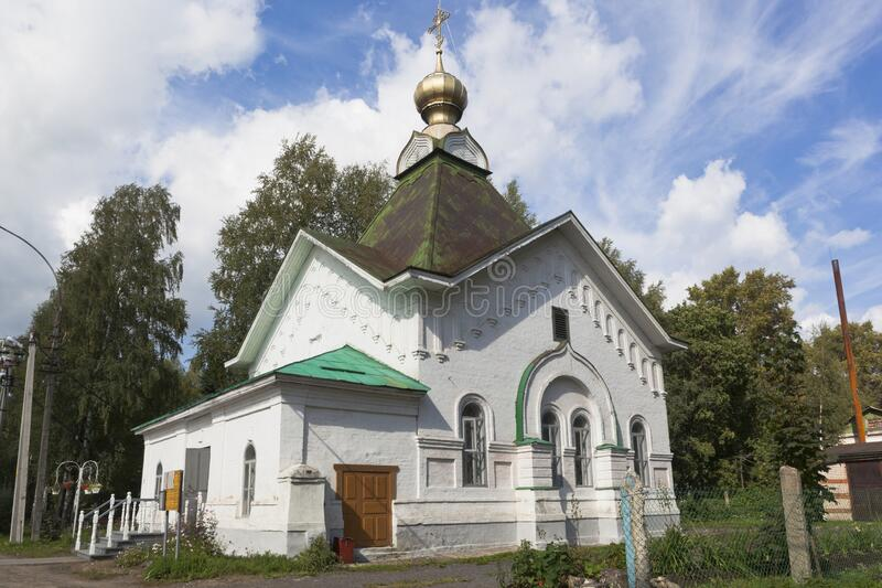 Church of St. Gregory St. Pelshemskogo Kadnikov in the Vologda region stock image
