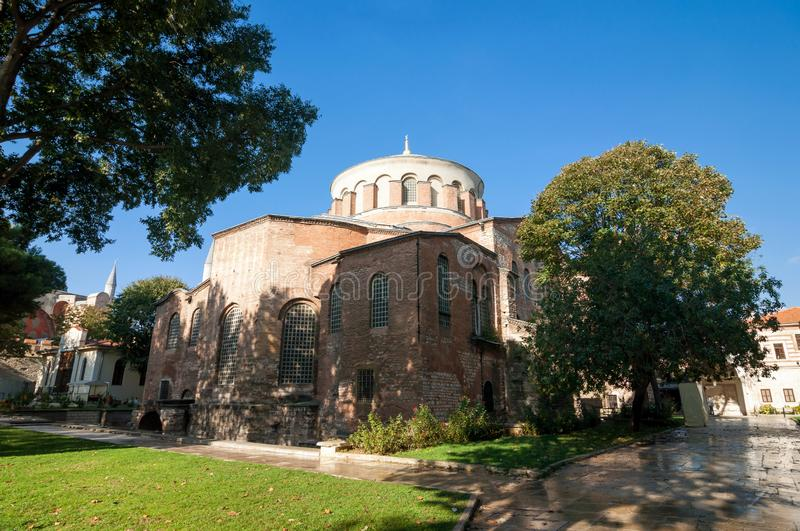 Church of St. Irene in the historical center of Istanbul stock photo