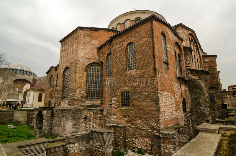 The church of St Irene in Istanbul. The church of St Irene in the Top Kapi museum in Constantinople, Istanbul, Turkey stock images