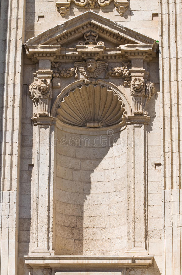 Church of St. Irene. Lecce. Puglia. Italy. Detail of the Church of St. Irene. Lecce. Puglia. Italy royalty free stock image