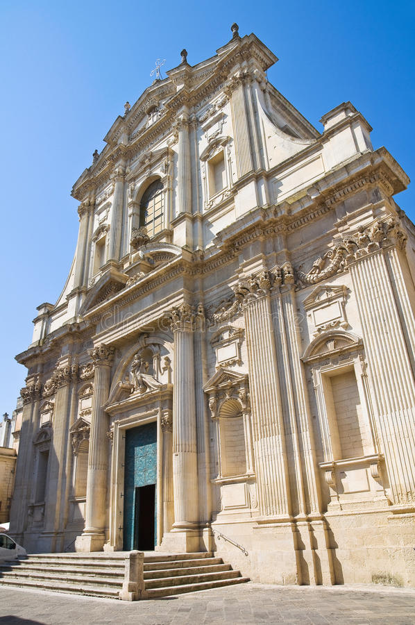 Church of St. Irene. Lecce. Puglia. Italy. Perspective of the Church of St. Irene. Lecce. Puglia. Italy royalty free stock photography