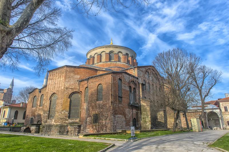 The Church of St. Irene - one of the earliest surviving churches. Turkey, Istanbul 23,08,2018 The Church of St. Irene - one of the earliest surviving churches of royalty free stock photos