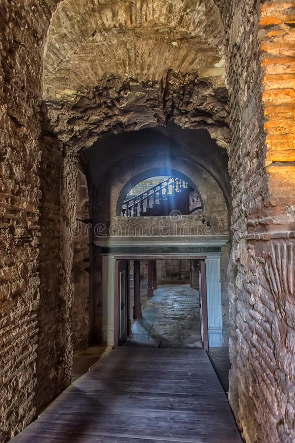 The Church of St. Irene - one of the earliest surviving churches. Turkey, Istanbul 23,08,2018 The Church of St. Irene - one of the earliest surviving churches of stock image