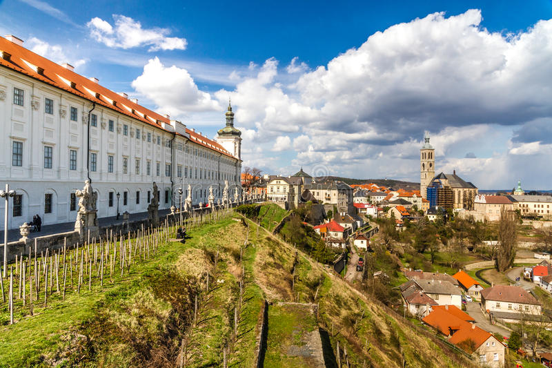 Church of St.James And Jesuit College-Kutna Hora. View Of Church of St. James And Jesuit College-Kutna Hora,Czech Republic,Europe stock image