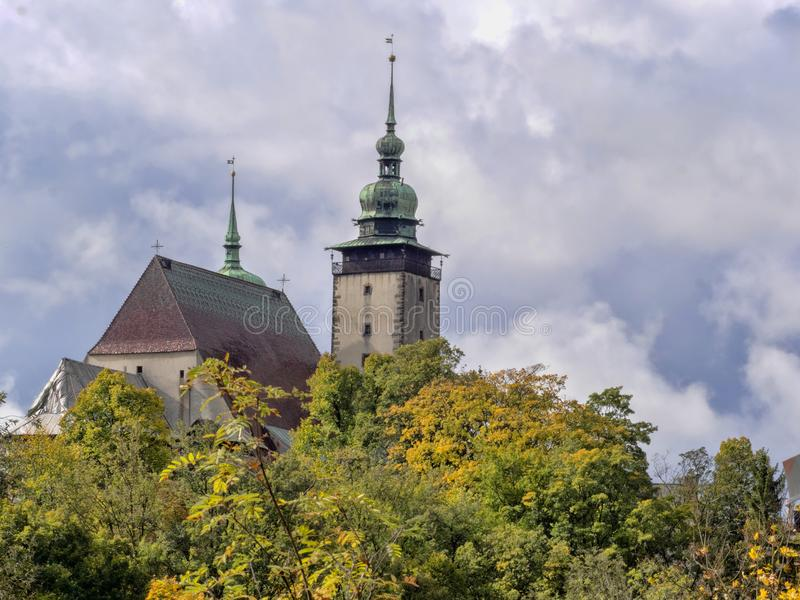 Church of St James in Jihlava Czech Republic. The Church of St James in Jihlava Czech Republic stock photo