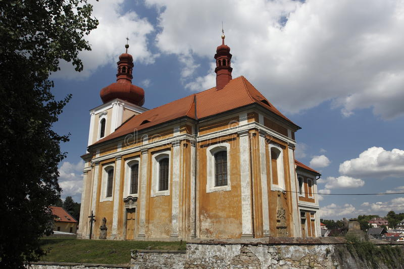Download Church Of St. James In Mnichovo Hradiste Stock Image - Image: 15393171