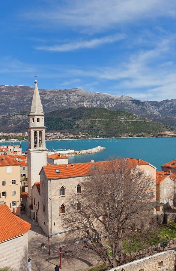Church of St John the Baptist in Budva, Montenegro stock photos
