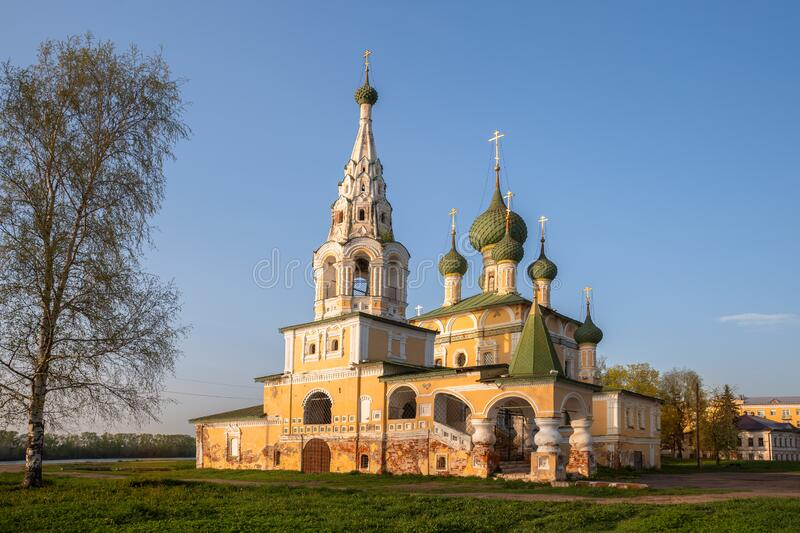 Church of St. John the Baptist in Uglich stock photos