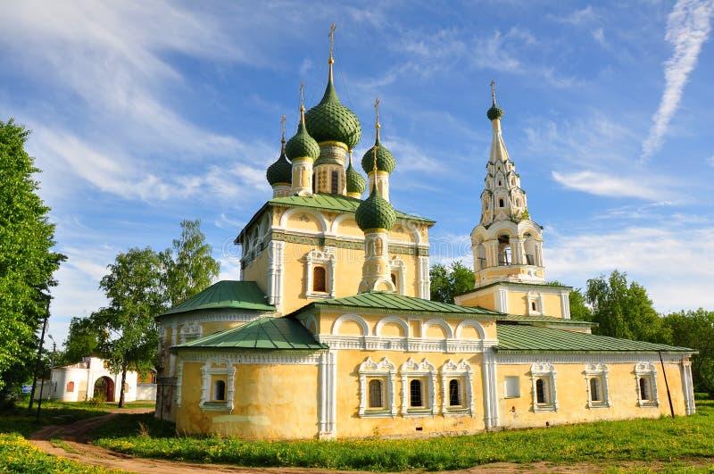 Church of St John the Baptist on the Volga stock photos