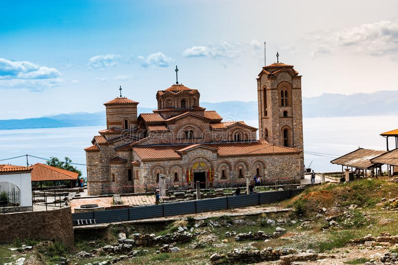 Church of St John  - landscape iconic view stock image