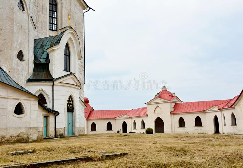 Church of St. John of Nepomuk - Zelena Hora. Church of St. John of Nepomuk on Zelena Hora UNESCO monument. It was built in baroque gothic style and was designed royalty free stock photography