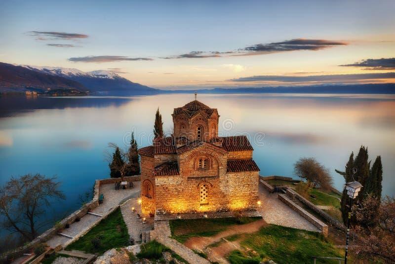 Church of St. John the Theologian -at Kaneo, Ohrid, Macedonia. Taken in 2015 royalty free stock photography