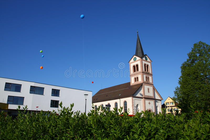 Church st. katherina Sandweier royalty free stock photography