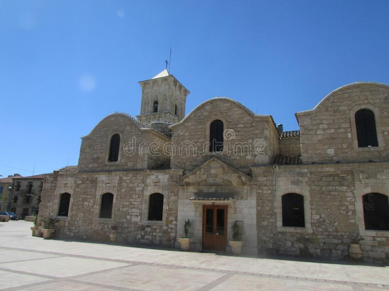 The Church of St. Lazarus in Larnaca, Cyprus, founded by the first Christians. Side view. Lazarus fled Israel from persecution and founded a Christian royalty free stock photography