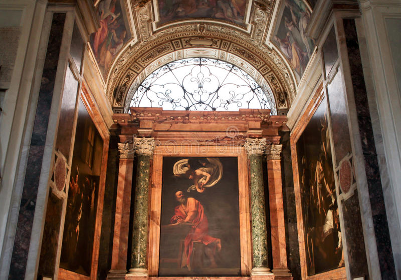 The Church of St. Louis of the French in Rome royalty free stock photos