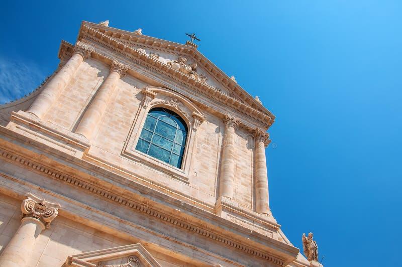 Church St. Maria Addolorata. Locorotondo. Puglia. Italy. Perspective of the Church of St. Maria Addolorata. Locorotondo. Puglia. Italy stock photography
