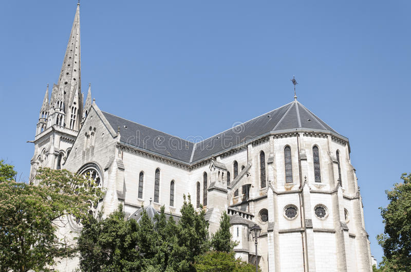Church of St. Martin in Pau, France royalty free stock photo