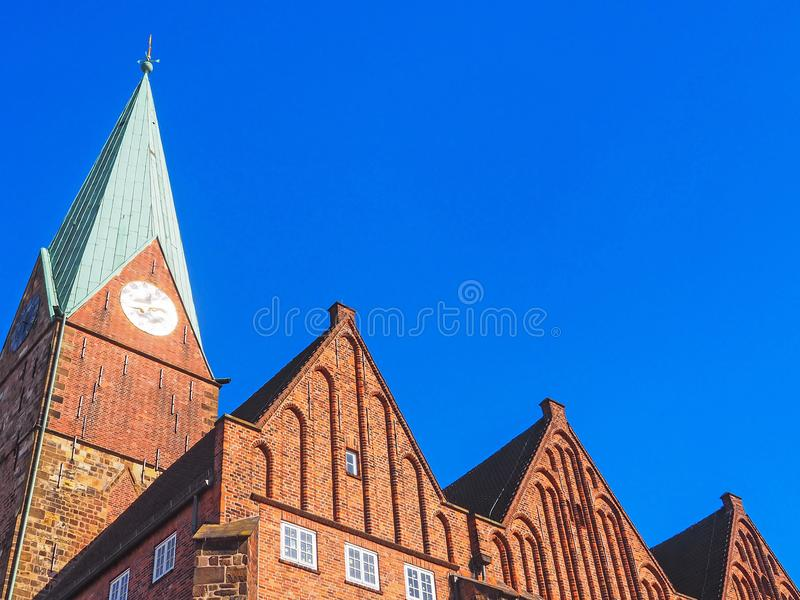 Church St. Martini in the old town of Bremen, Germany stock photography