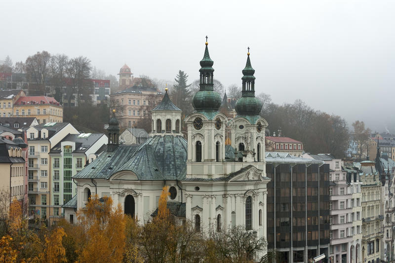 Church Of St Mary Magdalene In Karlovy Vary Stock Images