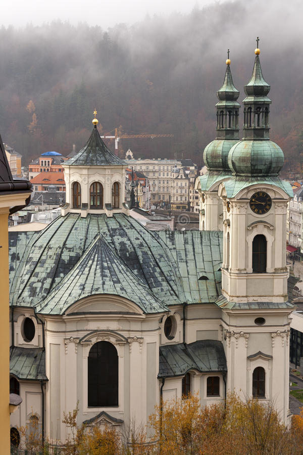 Church of St Mary Magdalene in Karlovy Vary royalty free stock image