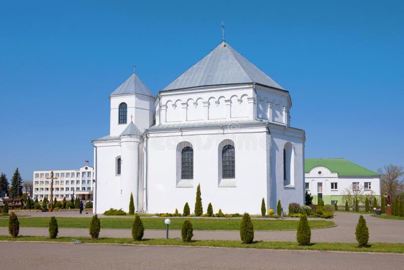 Church of St. Michael the Archange. Smorgon, Belarus. Church of St. Michael the Archangel on a sunny April day. Smorgon, Belarus stock photo