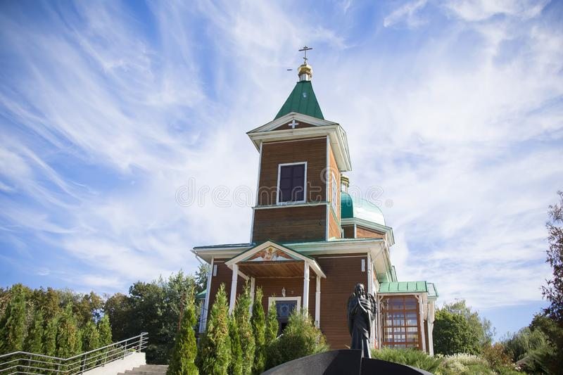 Church of St. Michael the Archangel.Orthodox church against the blue sky royalty free stock photography