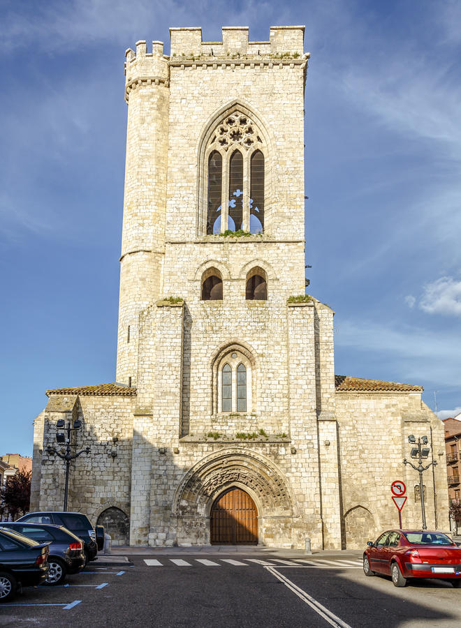 Church of St. Michael in Palencia royalty free stock photo
