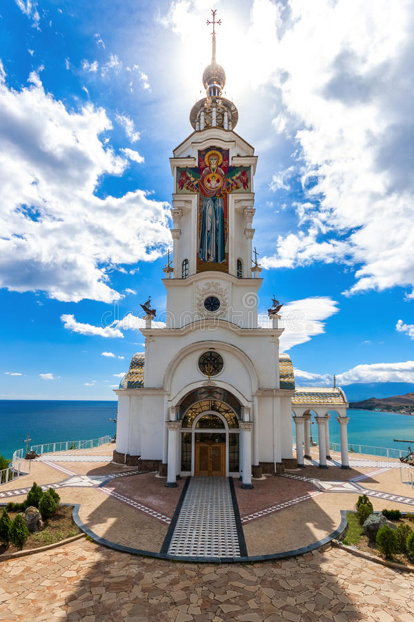 Church of St. Nicholas, is dedicated to memory of lost on waters royalty free stock images