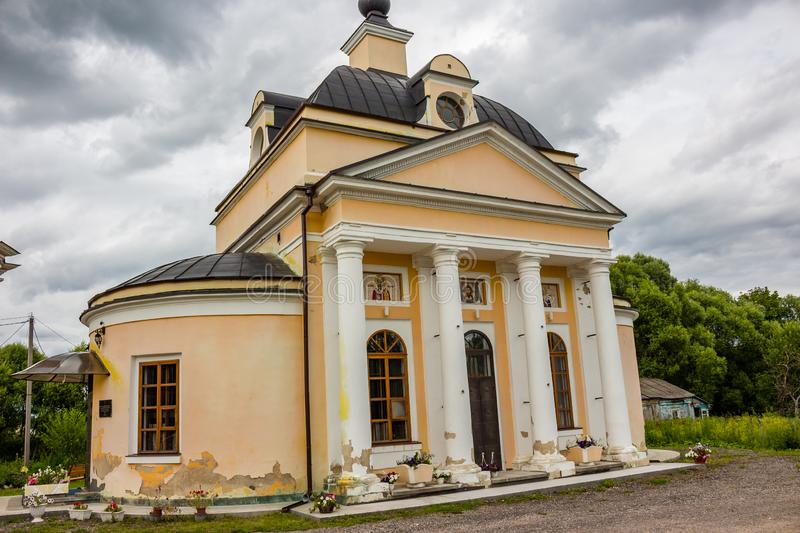 The Church of St. Nicholas the end of the 18th century. The temple complex of the estate Grabtsevo stock images