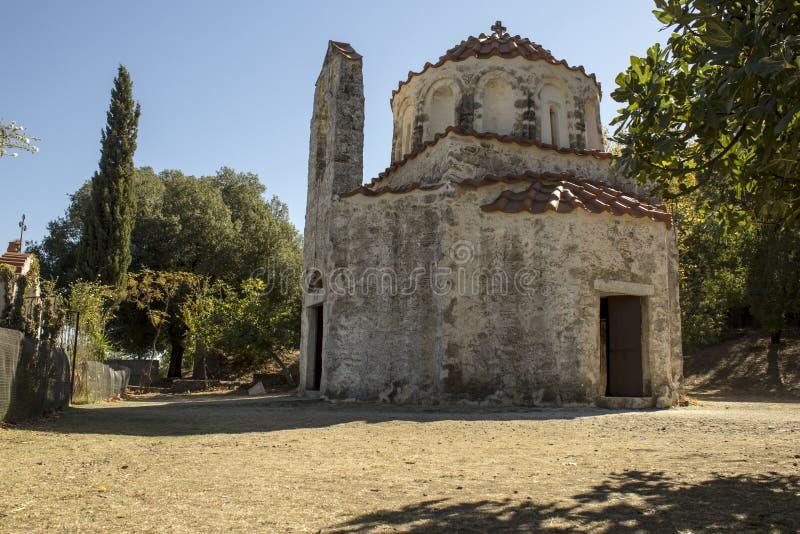 The Church of St. Nicholas, Greece stock photos