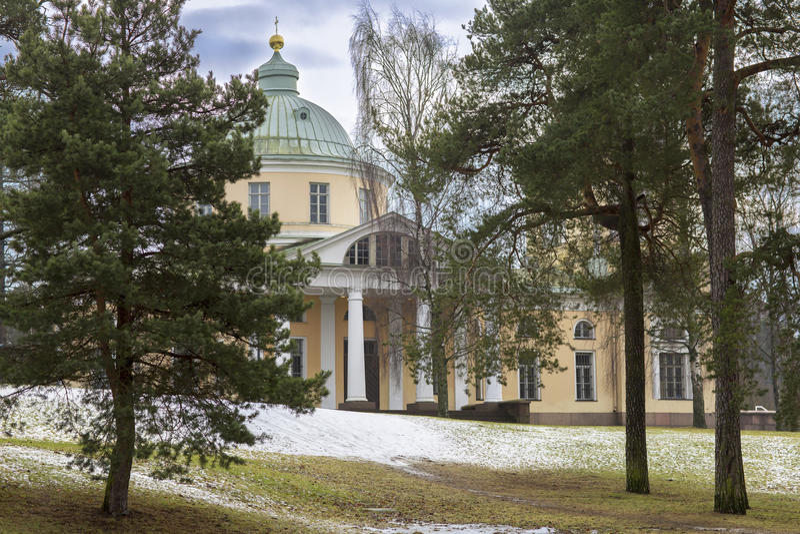 Church of St. Nicholas in Kotka, Finland. stock photos